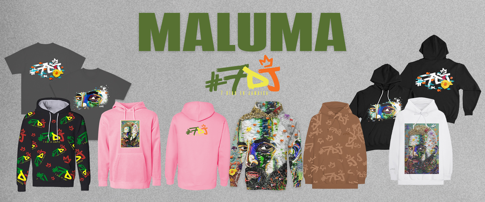 "Maluma ""7 Days In Jamaica"" Merch Available Now!"